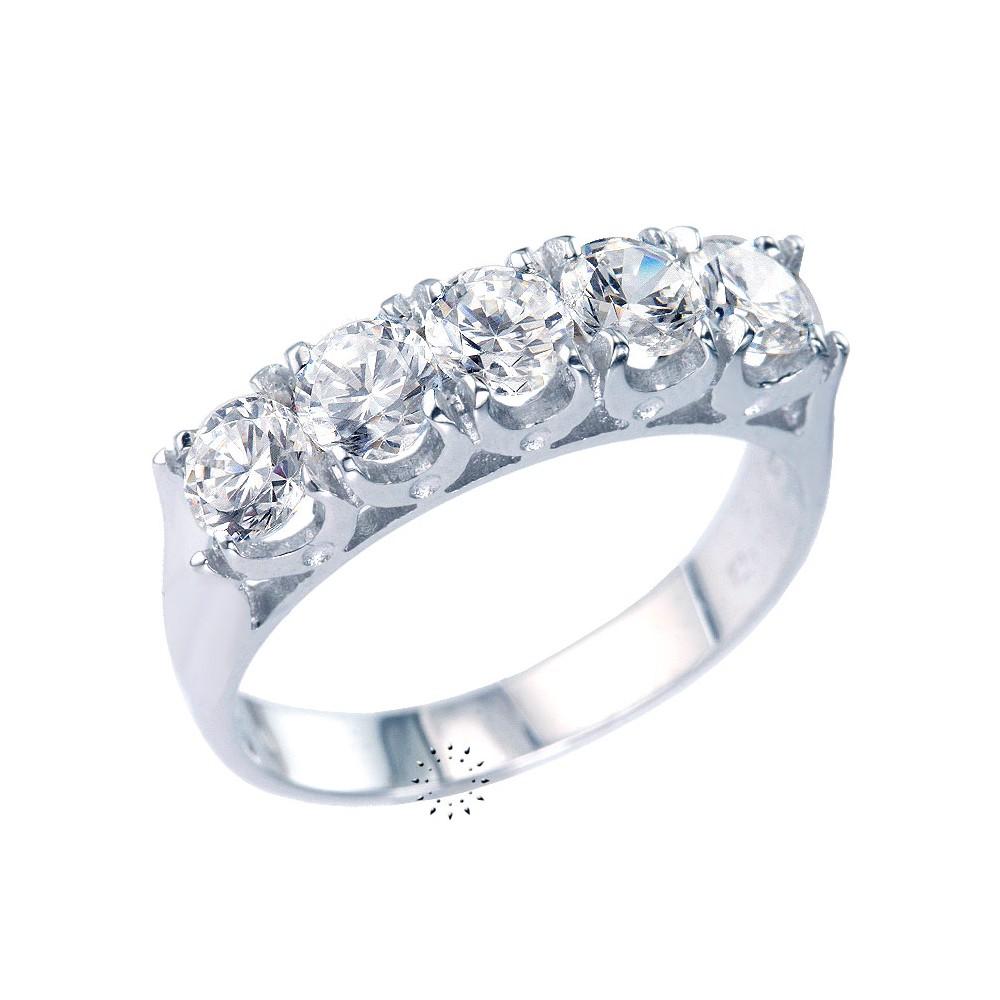 6d53a8ee17 Δαχτυλίδι Σειρέ 14K Λευκόχρυσο με Ζιρκόν - kosmima.gr