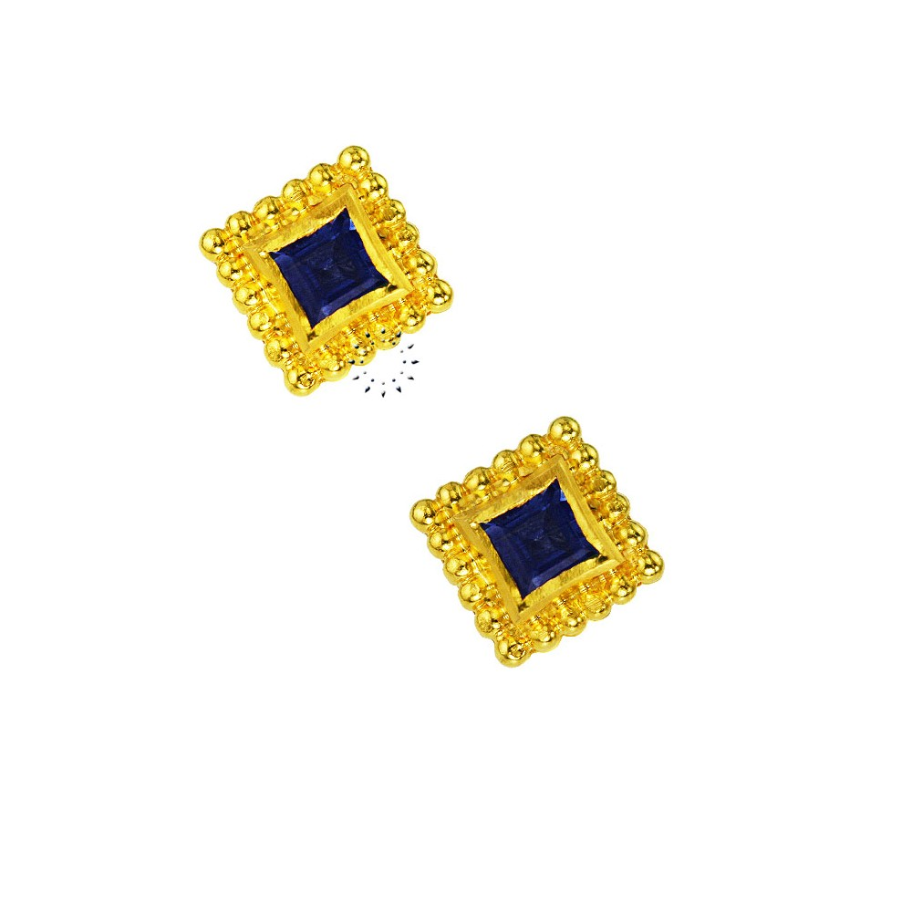 f27ffc13e1 Σκουλαρίκια 18 καράτια Χρυσό με Ζαφείρια - kosmima.gr