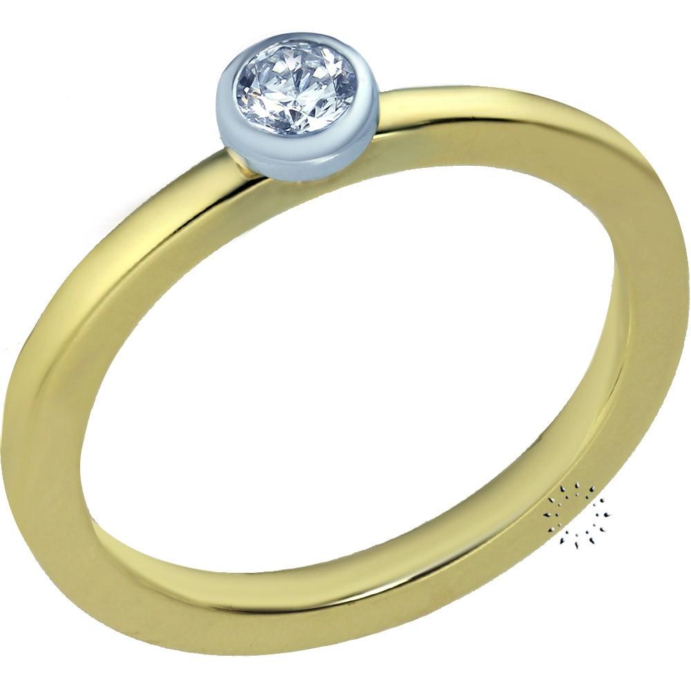 Μονόπετρο 18Κ Χρυσό και Λευκόχρυσο με Διαμάντι Blumer - kosmima.gr 2a023203721