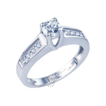 Solitaire ring 14ct Whitegold