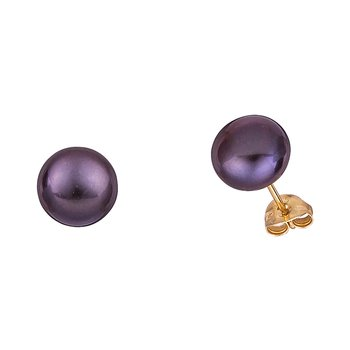 Earrings 14ct gold with pearl