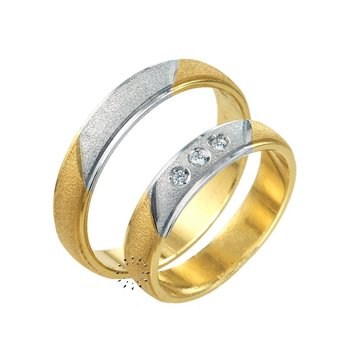 Wedding rings 18ct Gold and