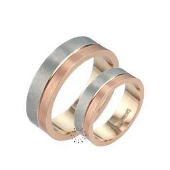 Wedding rings 14ct Pink and