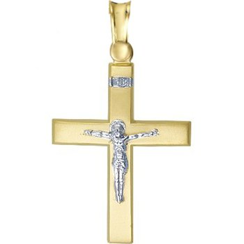 Cross 9ct Gold and White Gold