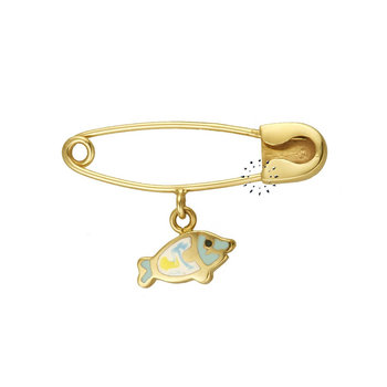 Pin 14ct Gold with hanging