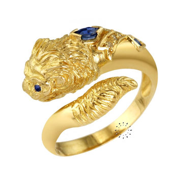 Ring 18ct Gold with Sapphires