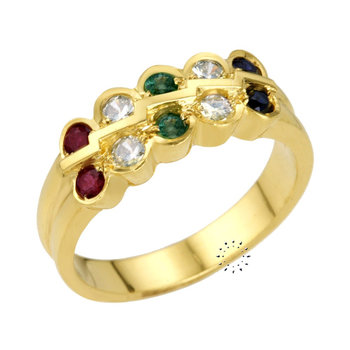 Ring 18ct Gold with Diamonds