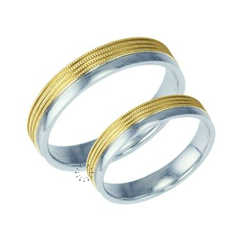 Wedding rings in 9ct Gold and