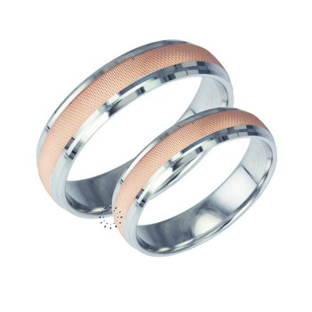 Wedding rings in 9ct Pink