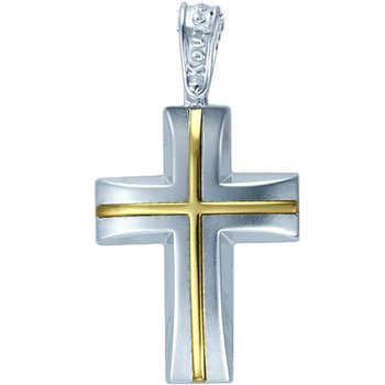 Cross 9ct Whitegold and Gold