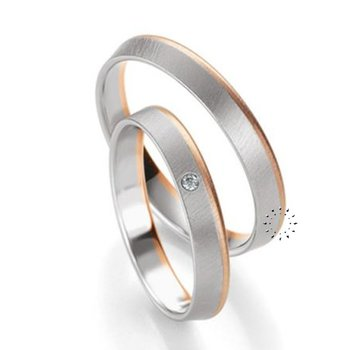 Wedding rings in 8ct Pink