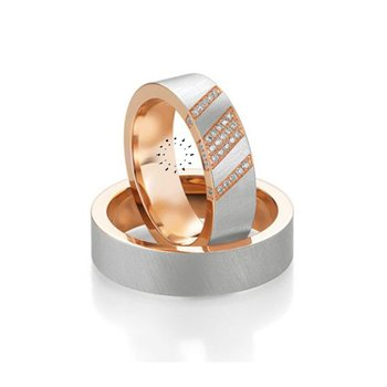 Wedding rings in 14ct Rose