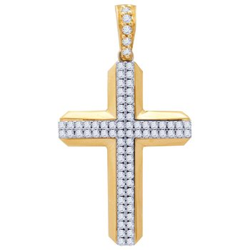 Cross 14K Gold with Zircon by