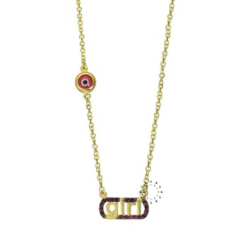 Necklace 14ct Gold with evil