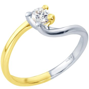 Solitaire ring 18ct with