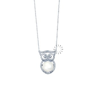 Necklace 14ct whitegold with