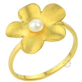 Ring 14ct gold with Pearl