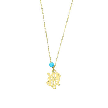 Necklace in 14ct Gold Zodiac