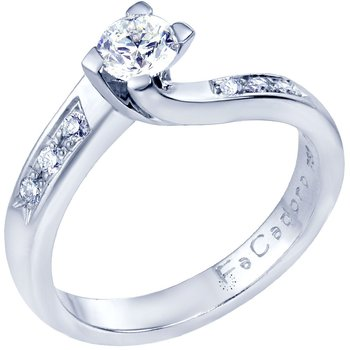 Solitaire ring 18ct Whitegold