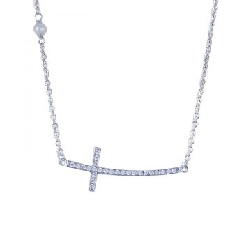 Necklace 14ct White Gold with