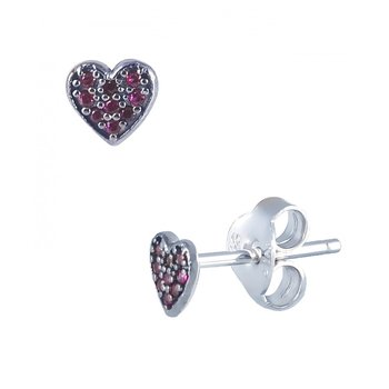 Earings in 14ct whitegold