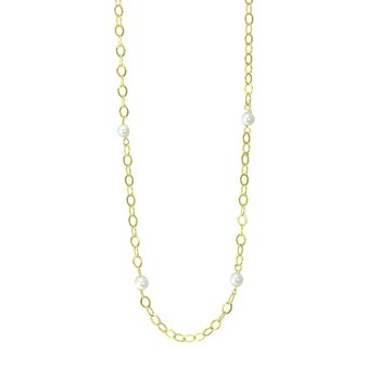 Necklace 14ct Gold with Pearls