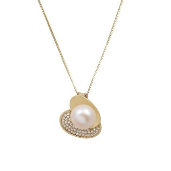 Necklace 14ct  gold with Pearl