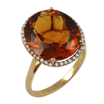 Ring 14ct Gold with citrine