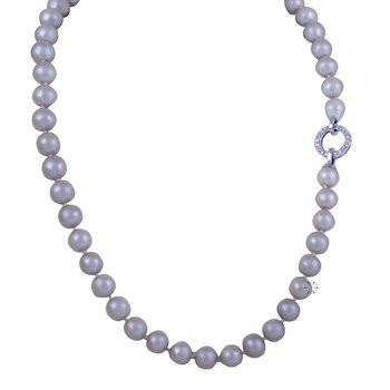 Necklace with Pearls and 14ct