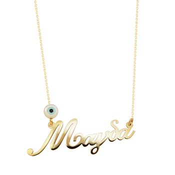 Necklace with name Magda 14K Gold SAVVIDIS