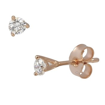 Earrings 18ct rose gold with