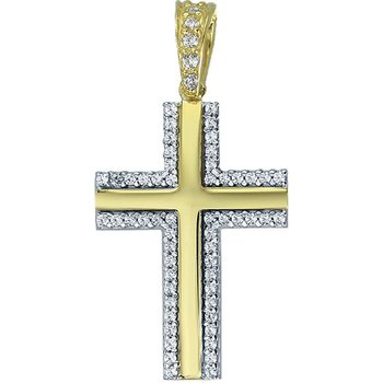 Cross 14ct Gold and Whitegold