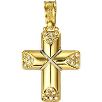 Cross 18ct Gold and White
