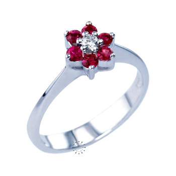 Ring 18ct with Rubies and