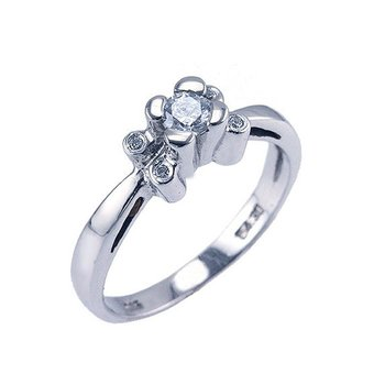 Ring 14ct Whitegold with