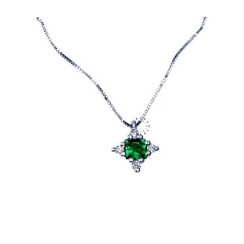 Necklace 18ct with Emerald