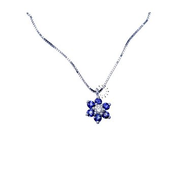 Necklace 18ct with Sapphires