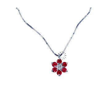 Necklace 18ct with Ruby and