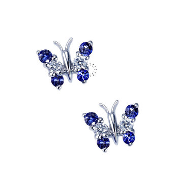 Earrings 18ct with Sapphires