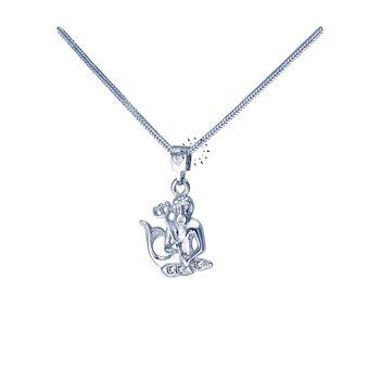 Star sign 14ct Whitegold with