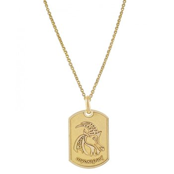 Pendant in 14ct Gold-Capricorn