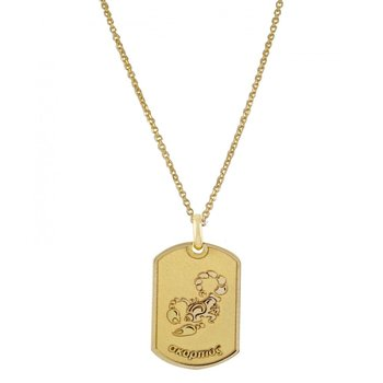 Pendant in 14K Gold-Scorpio