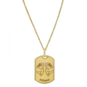 Pendant in 14ct Gold-Gemini