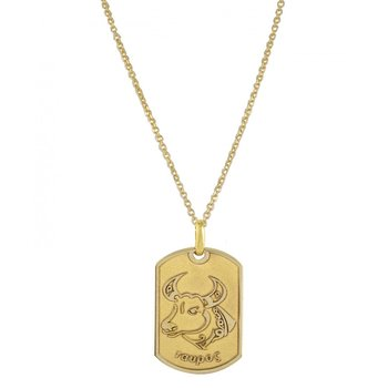 Pendant in 14ct Gold-Taurus
