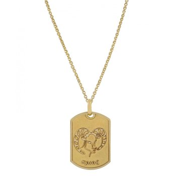 Pendant in 14ct Gold-Aries