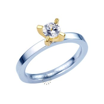 Solitaire ring 14ct Gold with