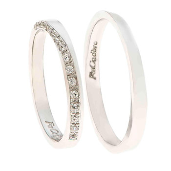 Wedding rings 14 Whitegold