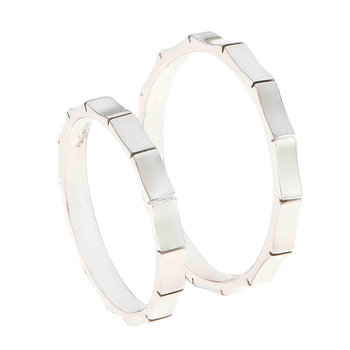Wedding rings 14ct Whitegold
