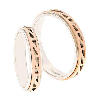 Wedding rings 14ct Rose Gold