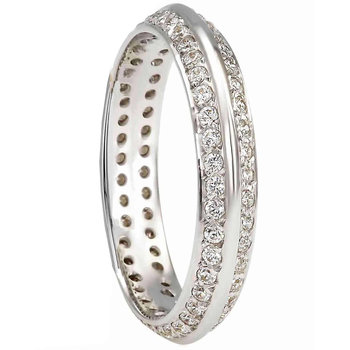 Wedding ring 14ct Whitegold